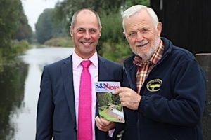 Steve Graves of Robert Nicholas Financial Advisers with Bernie Jones of the Shrewsbury and Newport Canals Trust